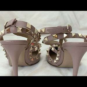 Valentino Shoes - Valentino Rockstud Leather Ankle Strap Pump